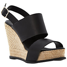 Buy Dune Black Jonart Espadrille Leather Sandals, Black Online at johnlewis.com