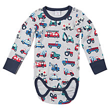 Buy Polarn O. Pyret Baby's Vehicle Bodysuit, Grey/Multi Online at johnlewis.com