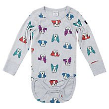 Buy Polarn O. Pyret Baby's Dog Print Bodysuit Online at johnlewis.com