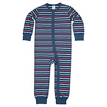 Buy Polarn O. Pyret Baby's Stripe Pyjamas, Blue/Multi Online at johnlewis.com