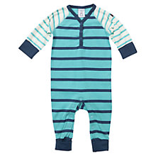 Buy Polarn O. Pyret Baby's Stripe Bodysuit, Blue Online at johnlewis.com