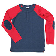 Buy Polarn O. Pyret Children's Henley Top Online at johnlewis.com