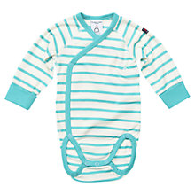 Buy Polarn O. Pyret Baby's Stripe Bodysuit, Blue/White Online at johnlewis.com
