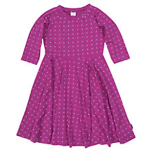 Buy Polarn O. Pyret Girls' Flower and Spot Dress, Purple Online at johnlewis.com