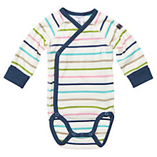 Buy Polarn O. Pyret Baby's Stripe Bodysuit, White/Multi Online at johnlewis.com