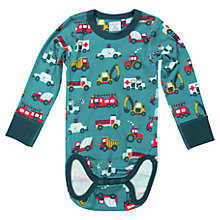 Buy Polarn O.Pyret Baby's Vehicle Bodysuit, Green Online at johnlewis.com