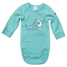 Buy Polarn O. Pyret Baby's Animal Print Bodysuit, Blue Online at johnlewis.com