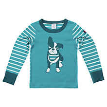 Buy Polarn O. Pyret Children's Dog Motif Top, Green Online at johnlewis.com