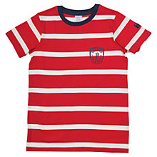 Buy Polarn O. Pyret Children's Stripe T-Shirt, Red Online at johnlewis.com
