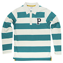 Buy Polarn O. Pyret Children's Block Stripe Polo Shirt Online at johnlewis.com