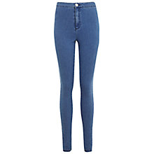 Buy Miss Selfridge Super High Waist Skinny Jeans, Mid Wash Blue Online at johnlewis.com