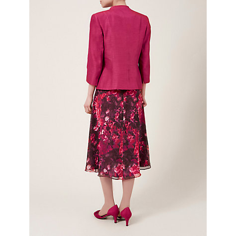 Buy Jacques Vert Notch Neck One Button Jacket, Rose Hip Online at johnlewis.com