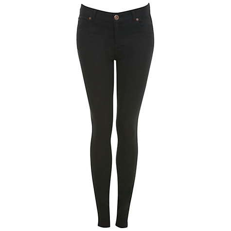 Buy Miss Selfridge Ultra Soft Skinny Jeans, Black Online at johnlewis.com