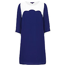 Buy Sugarhill Boutique Scallop Dress, Navy/Cream Online at johnlewis.com