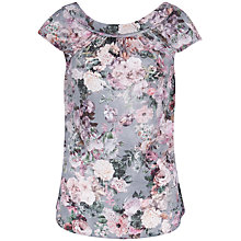 Buy Almari Floral V-Back Blouse, Multi Online at johnlewis.com