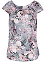 Almari Floral V-Back Blouse, Multi