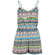 Buy Miss Selfridge Embellished Aztec Playsuit, Multi Online at johnlewis.com