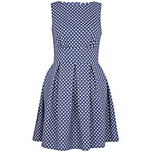 Buy Closet Jacquard Cut-Out Back Dress, Denim Online at johnlewis.com