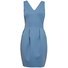 Buy Closet V-Neck and Back Ponti Dress, Blue Online at johnlewis.com