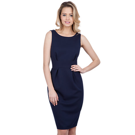 Buy Closet V-Back Bodycon Dress, Navy Online at johnlewis.com