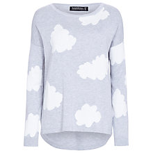 Buy Sugarhill Boutique Fluffy Cloud Sweater, Grey/White Online at johnlewis.com