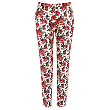 Buy Oasis Painted Rose Trousers, Multi Online at johnlewis.com