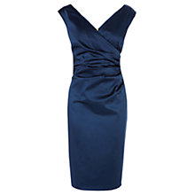 Buy Coast Della Duchess Satin Dress, Blue Online at johnlewis.com