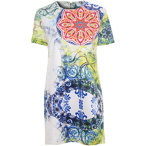 Buy True Decadence Floral Print Shift Dress, White Floral Online at johnlewis.com