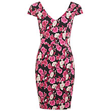 Buy Miss Selfridge Rose Bengaline Dress, Multi/Pink Online at johnlewis.com