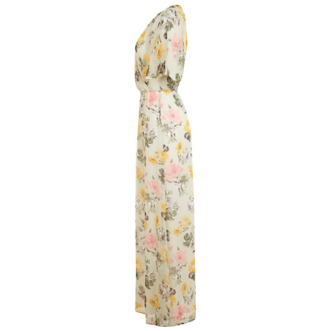 Buy Miss Selfridge Chiffon Printed Maxi Dress, Multi Online at johnlewis.com