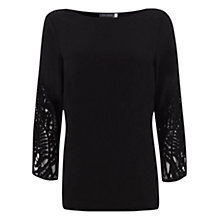 Buy Mint Velvet Lace Sleeve Top Online at johnlewis.com