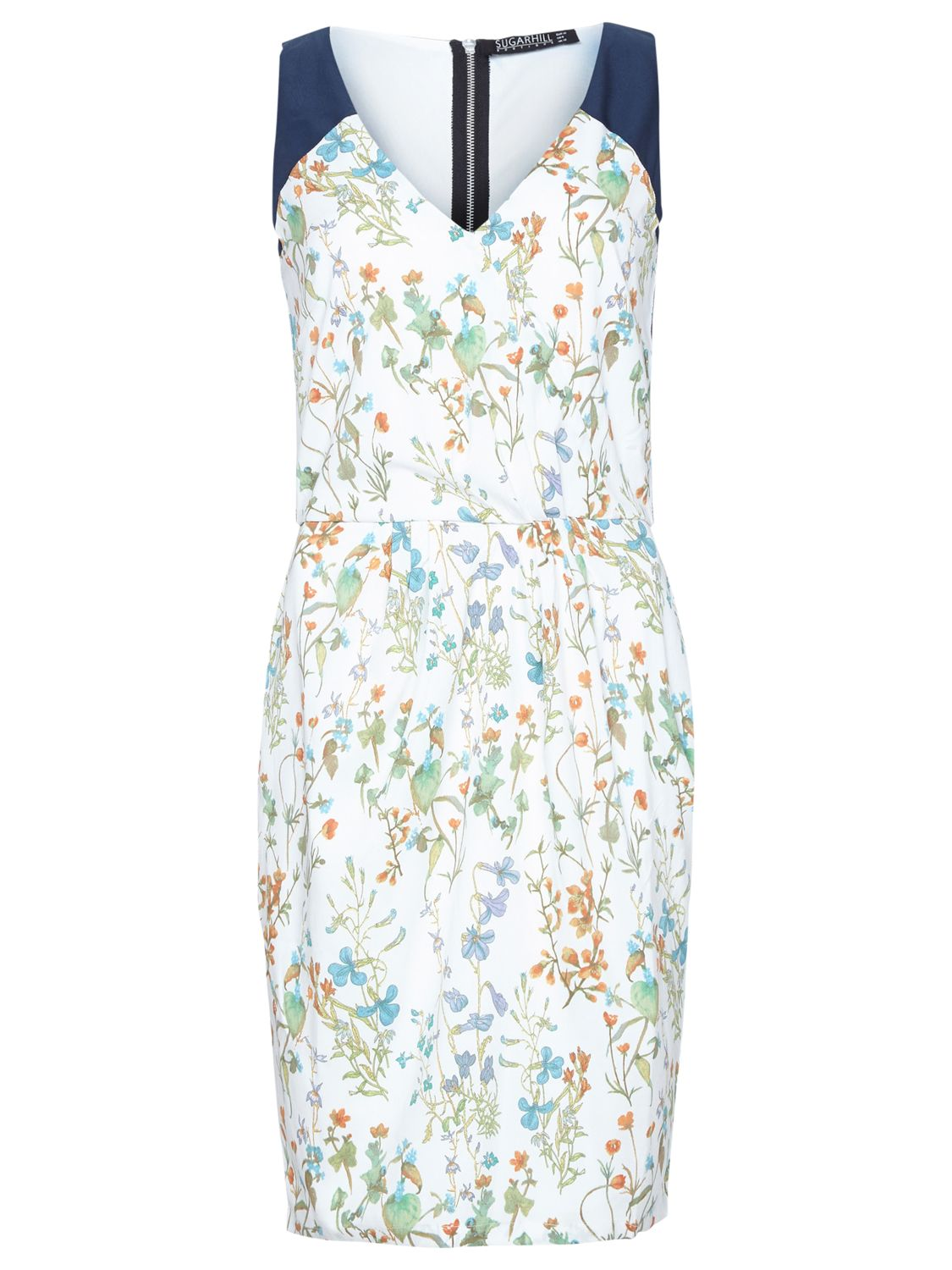 sugarhill boutique botanical dress off white/navy, sugarhill, boutique, botanical, dress, white/navy, sugarhill boutique, 12|14|10|8, clearance, womenswear offers, womens dresses offers, women, womens dresses, special offers, 1567079