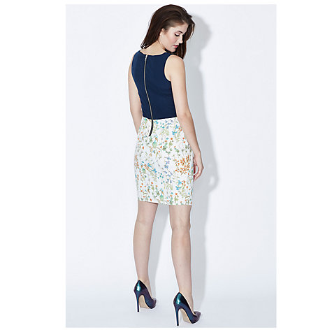 Buy Sugarhill Boutique Botanical Dress, Off White/Navy Online at johnlewis.com
