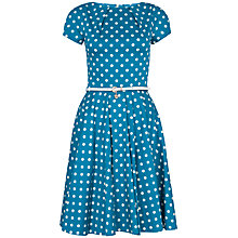 Buy Closet Spot Cap Sleeve Flared Belt Dress, Jade Online at johnlewis.com