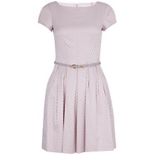 Buy Almari Jacquard Spot Belted Dress, Pale Pink Online at johnlewis.com