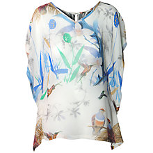 Buy True Decadence Floaty Winged Top, White Print Online at johnlewis.com