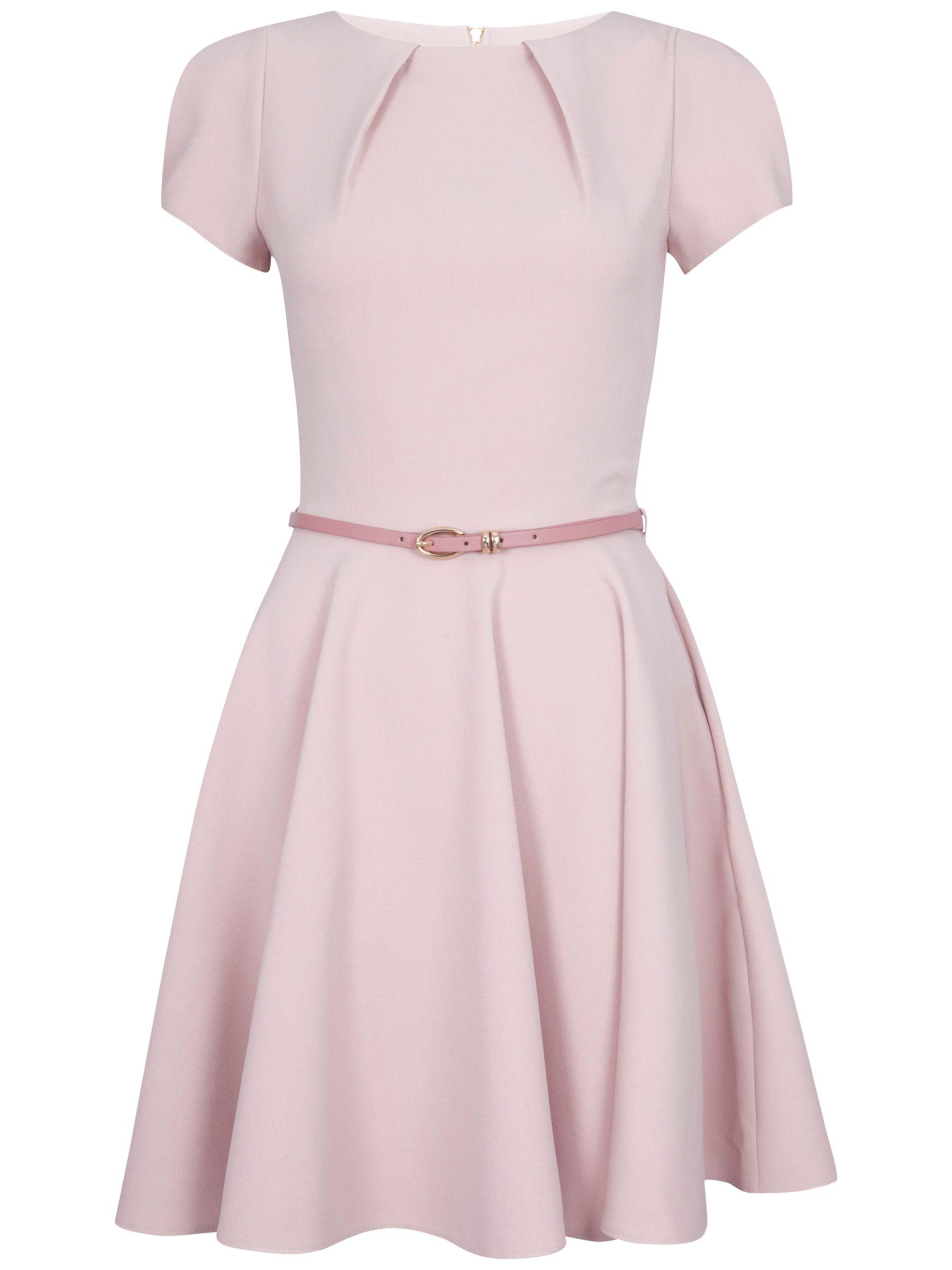closet flared belt dress dusky pink, closet, flared, belt, dress, dusky, pink, 8|10, clearance, womenswear offers, womens dresses offers, women, womens dresses, special offers, 1635052