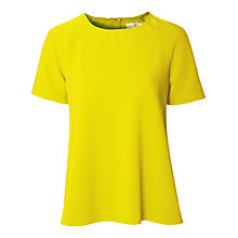 Buy True Decadence Short Sleeve Blouse, Yellow Online at johnlewis.com