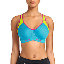 Buy Freya Sports Underwired Moulded Crop Top Bra, Atomic Blue Online at johnlewis.com