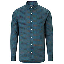 Buy JOHN LEWIS & Co. Vintage Polka Dot Print Shirt, Teal Online at johnlewis.com
