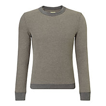 Buy JOHN LEWIS & Co. Brushed Cotton Sweatshirt, Grey Melange Online at johnlewis.com