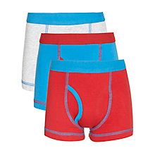 Buy John Lewis Boy Colour Block Trunks, Pack of 3, Red/Blue Online at johnlewis.com