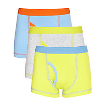 Buy John Lewis Boy Colour Block Trunks, Pack of 3, Brights Online at johnlewis.com