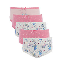 Buy John Lewis Girl Fairy Spot Pattern Briefs, Pack of 5, Multi Online at johnlewis.com