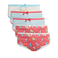 Buy John Lewis Girl Cat Pattern Briefs, Pack of 5, Multi Online at johnlewis.com