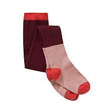 Buy Donna Wilson for John Lewis Girls' Tights, Burgundy Online at johnlewis.com