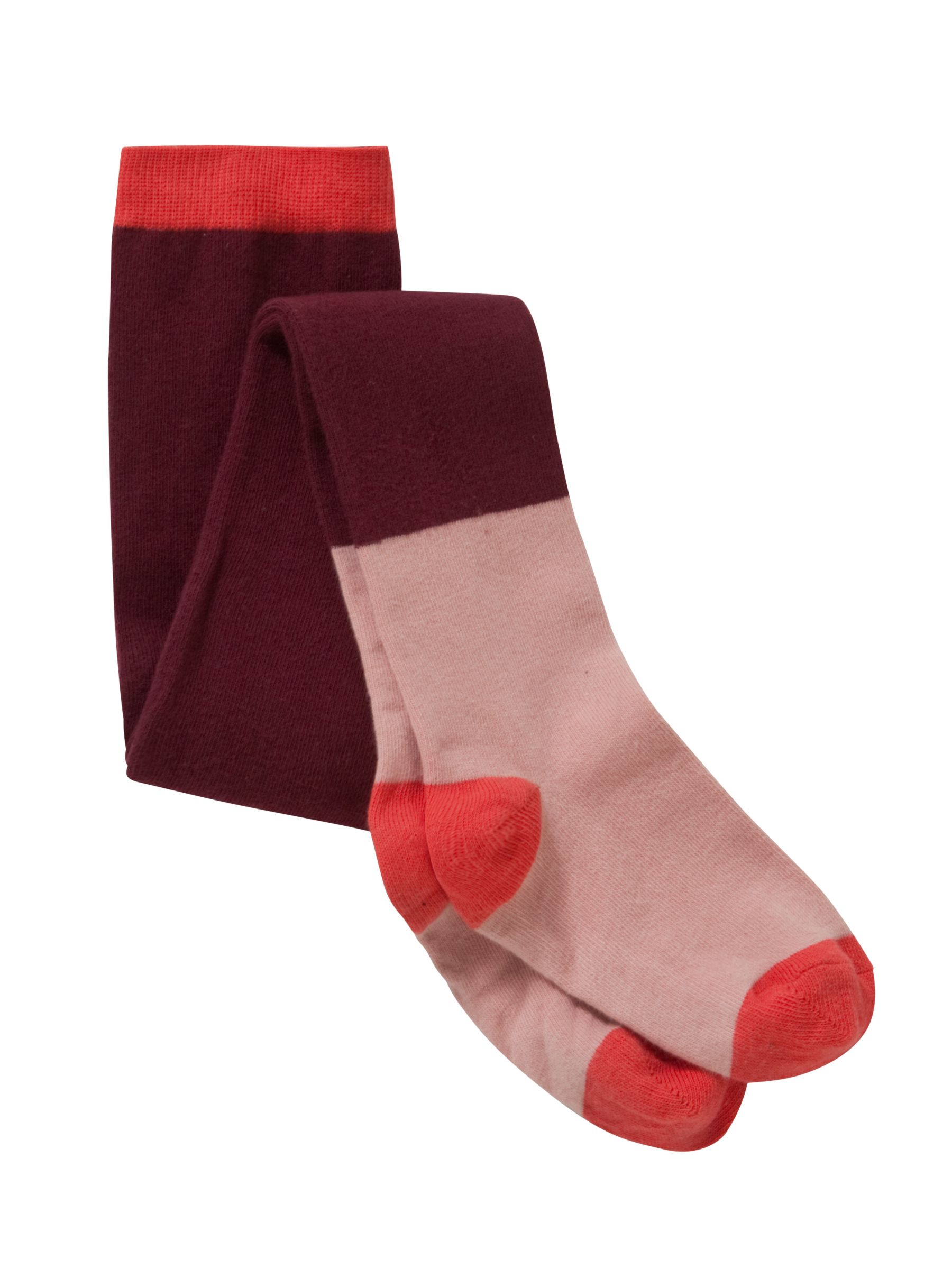 Donna Wilson for John Lewis Girls' Tights, Burgundy