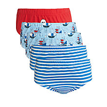Buy John Lewis Boy Skull Briefs, Pack of 5, Blue/Red Online at johnlewis.com