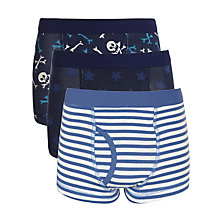 Buy John Lewis Boy Skull, Stripe & Star Print Trunks, Blue/Navy Online at johnlewis.com