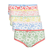 Buy John Lewis Girl Bold Floral Briefs, Pack of 5, Multi Online at johnlewis.com